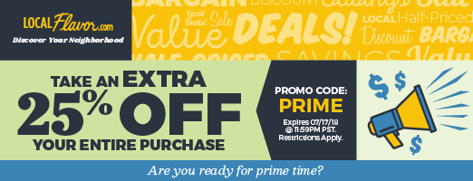 Are you ready for prime time? Take an extra 25% off your entire purchase with promo code: PRIME. Expires 07/17/18 @ 11:59 PM PST.  Restrictions Apply.