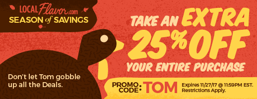 Take an extra 25% OFF with promo code: TOM  Expires: 11/27/17 11:59PM EST.  Restrictions Apply