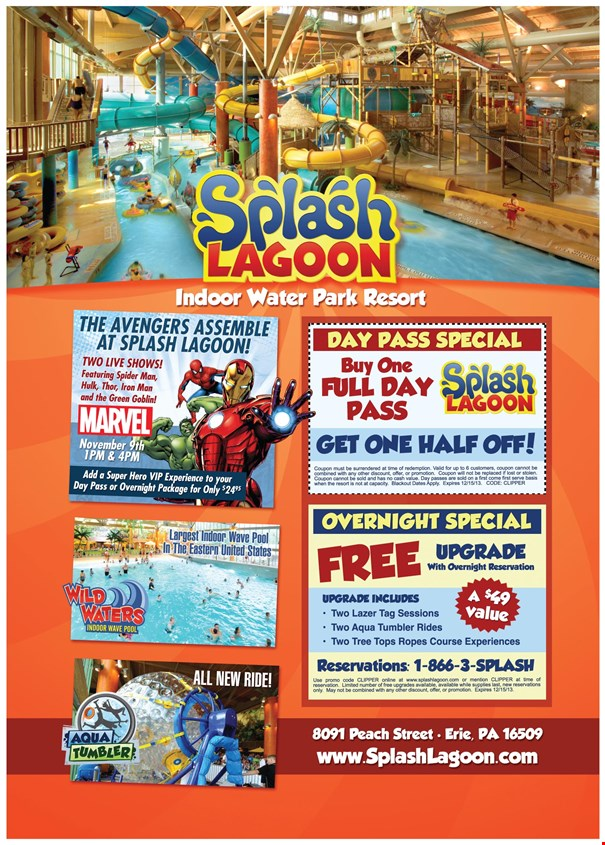 Splash lagoon discount coupons