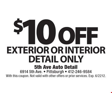 With this coupon. Not valid with other offers or prior services. Exp. 6/2212.