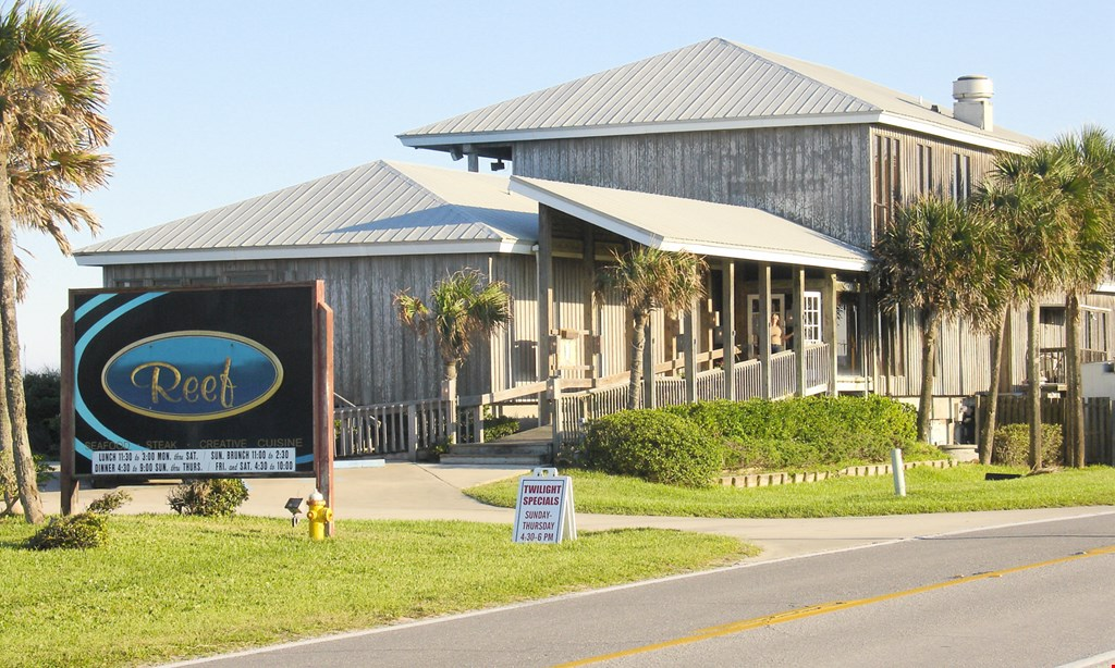 Product image for Reef Restaurant - St. Augustine $15 for $30 of Fresh Seafood