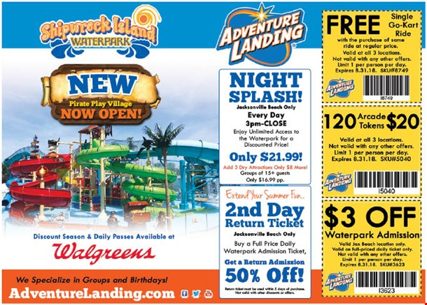 Coupons | Adventure Landing Family Entertainment Center ...
