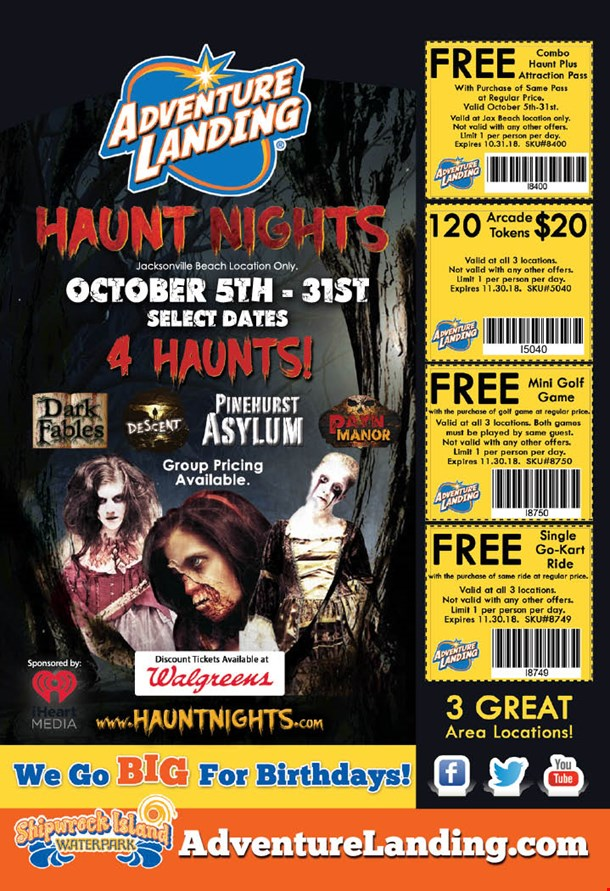 Localflavor Com Adventure Landing Haunt Nights Coupons
