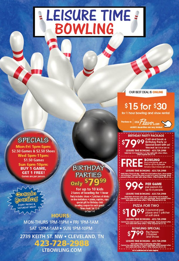 LocalFlavor com - Leisure Time Bowling - $15 for 1-Hour of