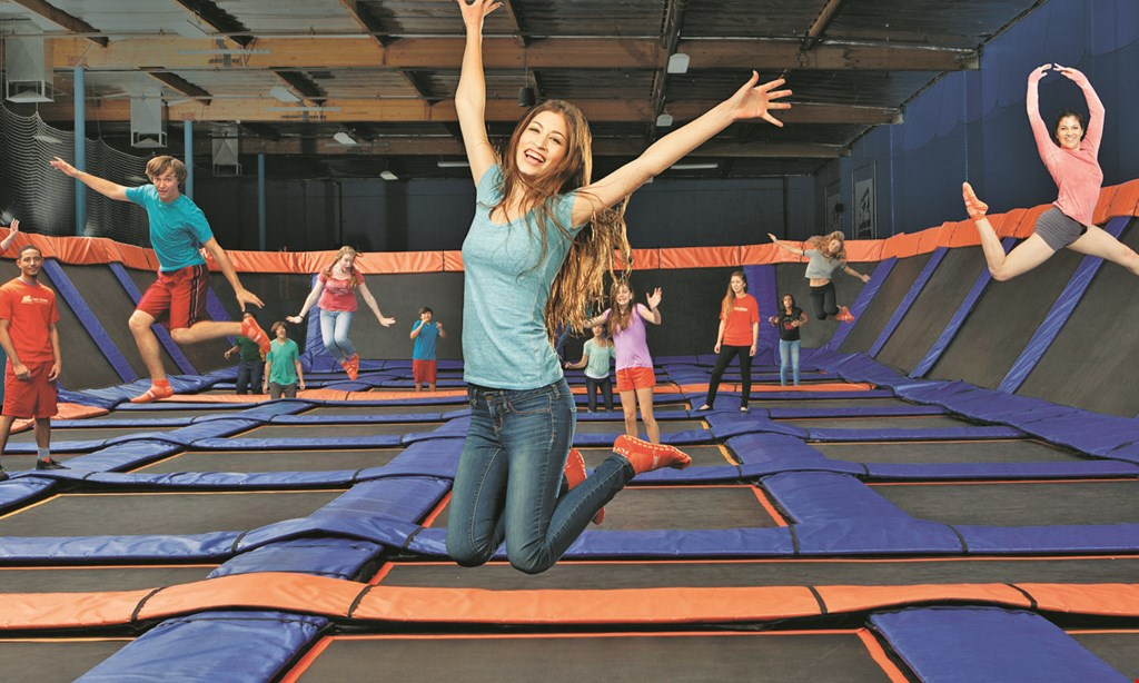Product image for Sky Zone Trampoline Park $20 For Two 90-Minute Open Jump Passes (Reg. $40)