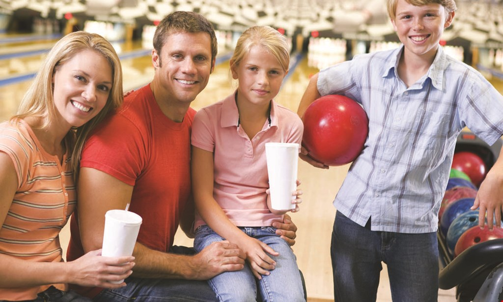 Product image for Chacko's Family Bowling Center $36.10 For Shoe Rentals, 2 Games Of Bowling, 1 Large Plain Pizza,& 4 Medium Fountain Drinks For 4 People (Reg. $72.20)