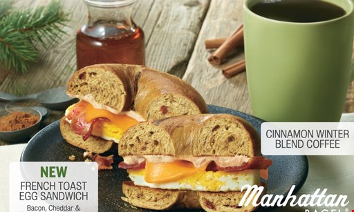 Product image for Manhattan Bagel $15 For $30 Worth Of Bagels, Sandwiches & More