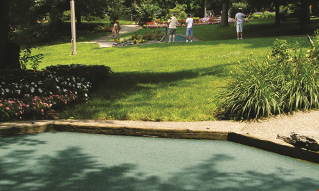 Product image for Village Greens Miniature Golf Course & Snack Shoppe $20.50 For A Round Of Miniature Golf For 4 (Reg. $41)
