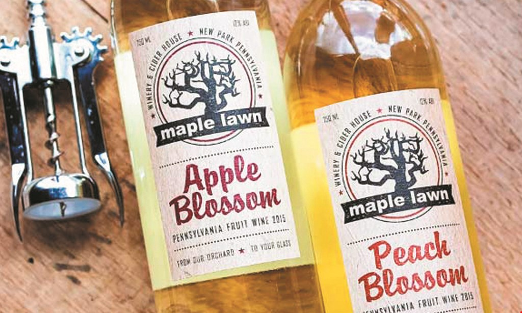 Product image for Maple Lawn Winery & Cider House $12 For Wine Tasting For 2 & A Souvenir Wine Tote (Reg. $24)