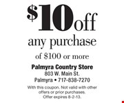 With this coupon. Not valid with other offers or prior purchases.  Offer expires 8-2-13.