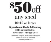With this coupon. Not valid with other offers or prior purchases.  Offer expires 6-7-13.