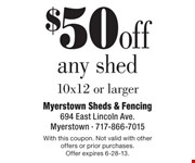 With this coupon. Not valid with other offers or prior purchases.  Offer expires 6-28-13.