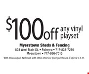With this coupon. Not valid with other offers or prior purchases. Expires 9-1-11.