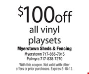With this coupon. Not valid with other offers or prior purchases. Expires 5-18-12.