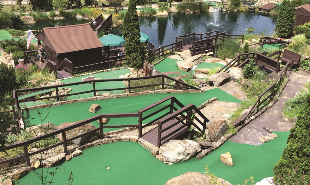 Product image for Frontier Falls Mini Golf $13 For A Round Of Mini Golf For 4 (Reg. $26)