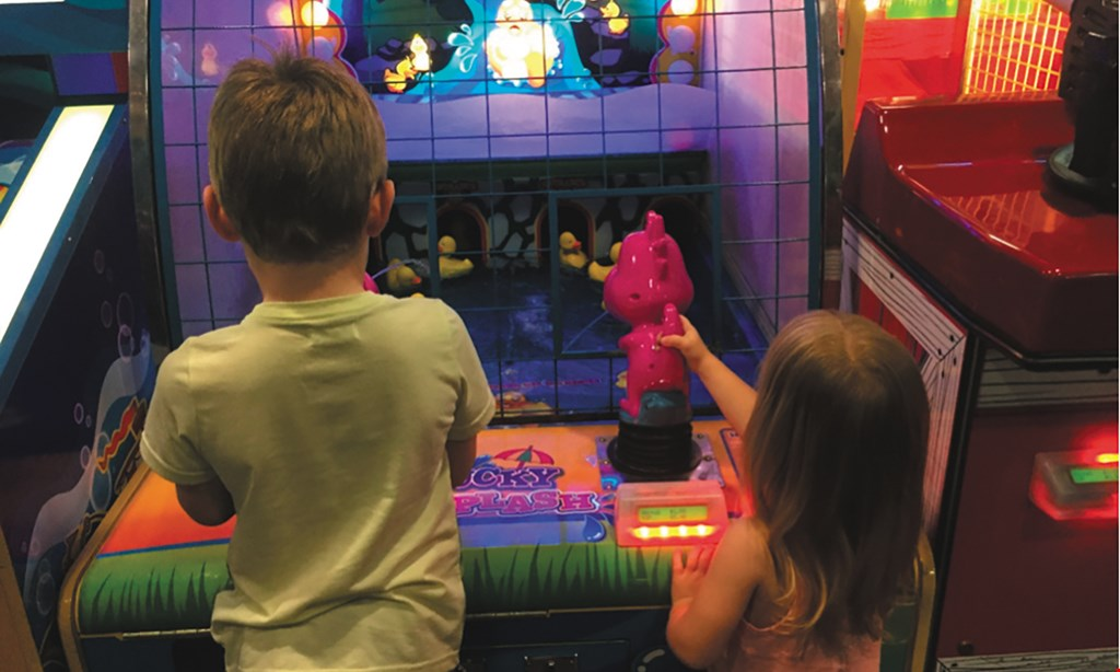 Product image for Kids Castle $14.99 For A Family Fun Package For 4, Includes 1 Large 1 Topping Pizza, 4-16oz. Fountain Sodas & 32 Tokens, (Reg. $29.99)