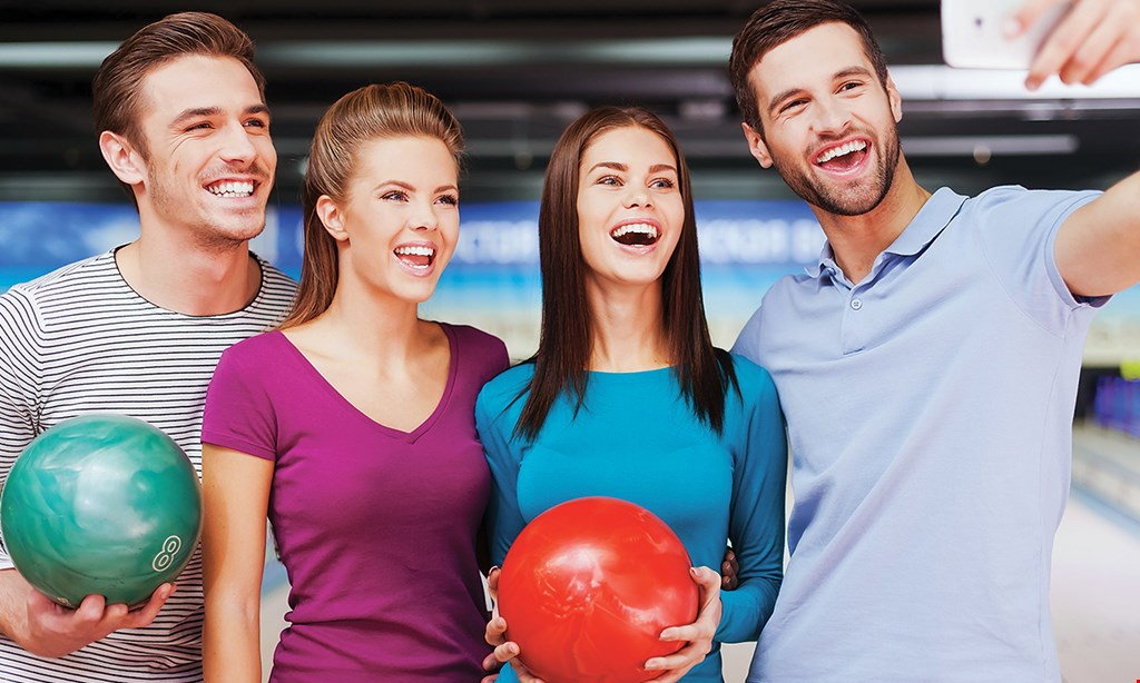 Product image for Levittown Lanes $34 For 90 Minutes Of Bowling Including Shoe Rentals, Large Pizza & Pitcher Of Soda For 5 (Reg. $68)