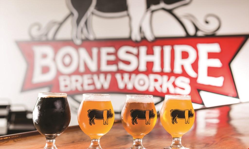 Product image for Boneshire Brew Works $15 For 2 Tastings, 2 Souvenir Glasses & 2 Souvenir Bottle/Can Openers (Reg. $30)