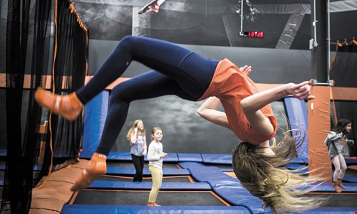 Product image for Sky Zone Indoor Trampoline Park $21 For 90 Minutes Of Jump Time For 2 (Reg. $42)