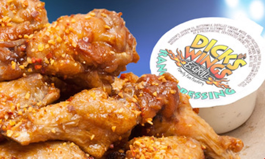 Product image for Dick's  Wings & Grill - Lakewood Location Lakewood Location- $20 for $40 Worth of Wings and More!
