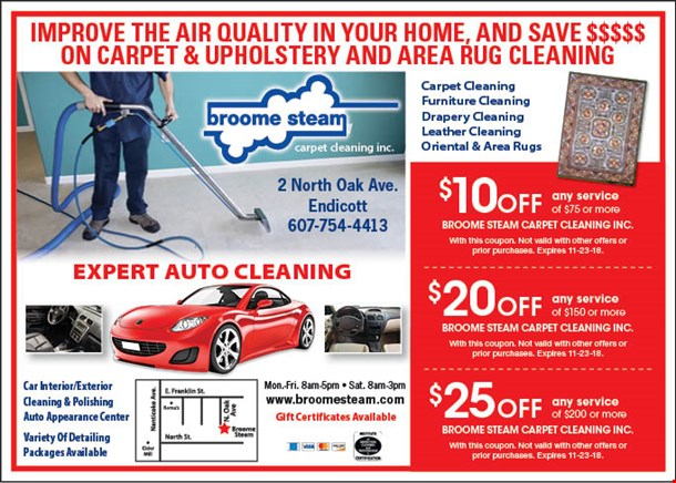 LocalFlavor BROOME STEAM CARPET CLEANING Coupons New Carpet And Furniture Cleaning Exterior
