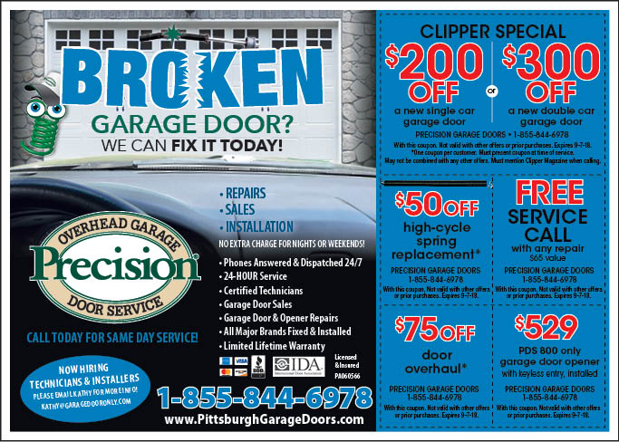 Magazine Image. Click To View Coupons. Serving Pittsburgh U0026 Surrounding  Areas. PRECISION GARAGE DOORS: ...