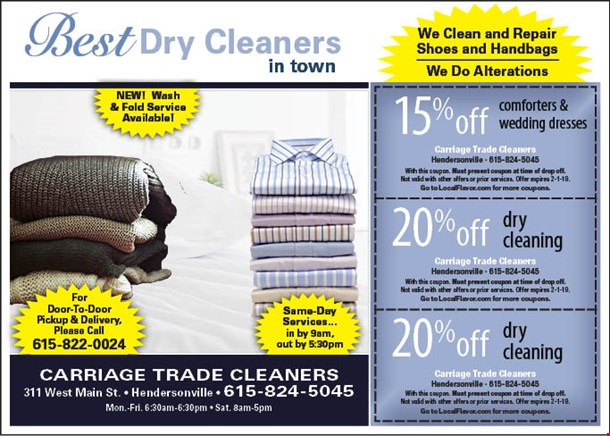 Carriage Trade Cleaners Coupons