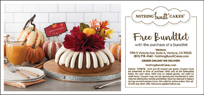 Popular Nothing Bundt Cakes Coupon Codes