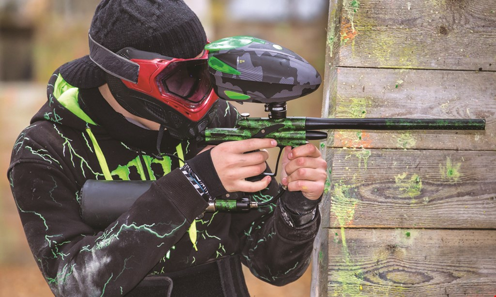Product image for Gear-Up Paintball $19 For 3-hour Admission For 1 person Including Gun, Mask, Tank, Air & 200 Paintballs (Reg. $40)