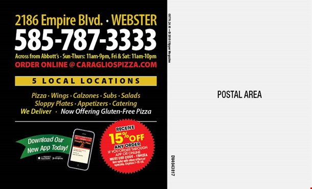 Caraglios pizza coupons
