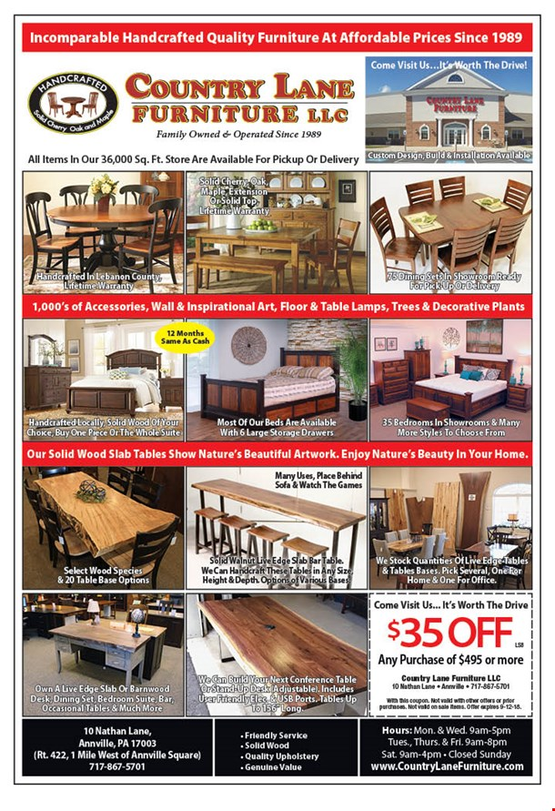 Image To View S 10 Nathan Lane Annville Pa 17003 Country Furniture
