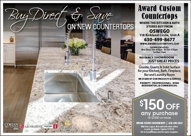 Magazine Thumbnail Image 118 Kirkland Cir Oswego Il 60543 Award Custom Countertops