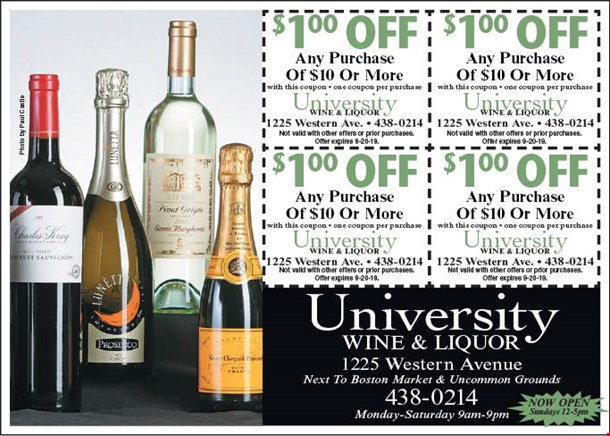 LocalFlavor com - University Wine and Liquor Coupons