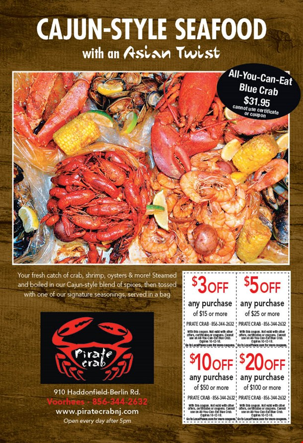 localflavor com pirate crab 15 for 30 worth of casual dinner