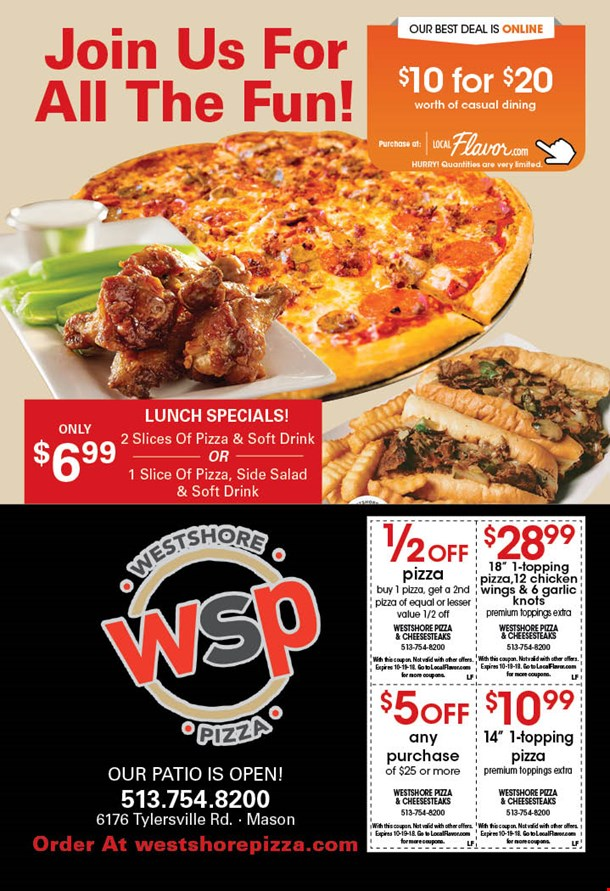 Westshore pizza coupons