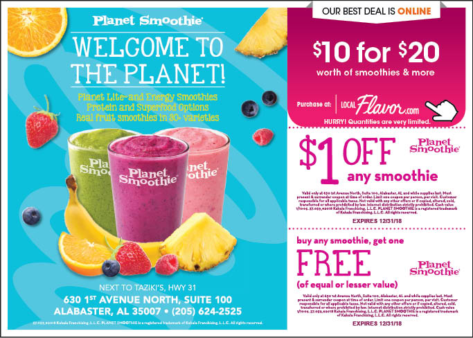 Like Planet Smoothie coupons? Try these...