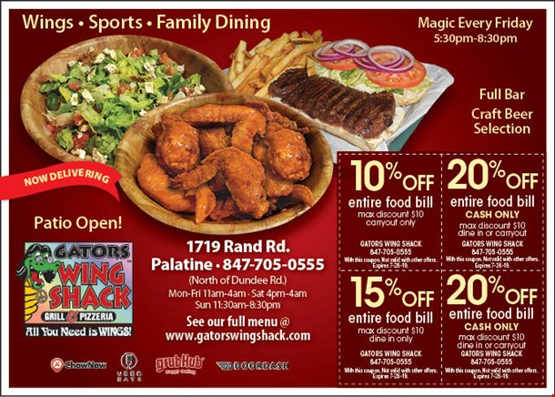 Wing Shack Coupons >> Localflavor Com Gators Wing Shack Coupons
