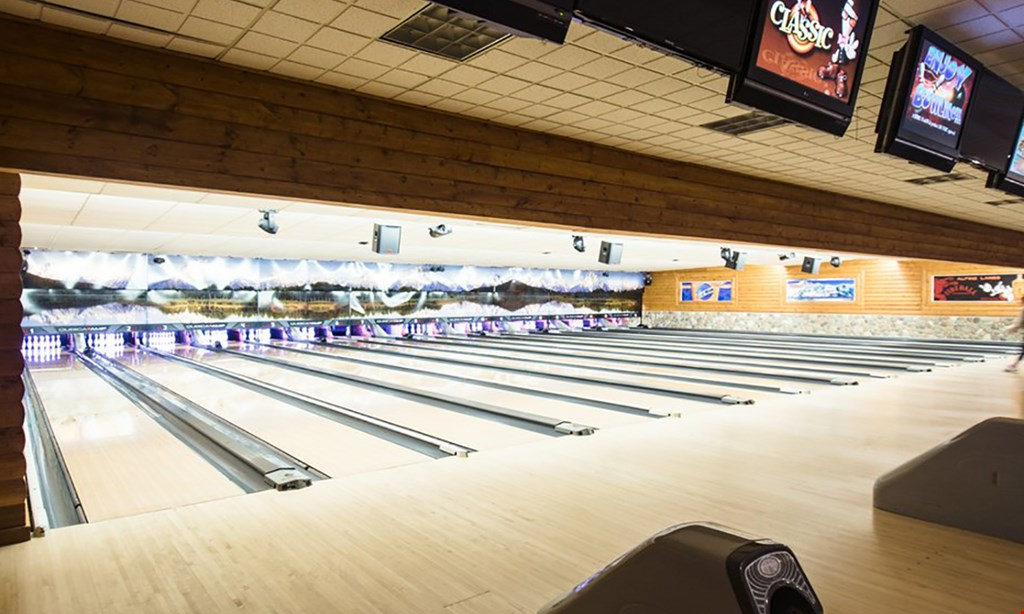 Product image for ALPINE LANES & AVALANCHE GRILL $35.25 For 2 Games Of Bowling For Up To 4 People, Including Shoes, Pitcher Of Soda & Large 3-Topping Pizza (Reg. $70.50)