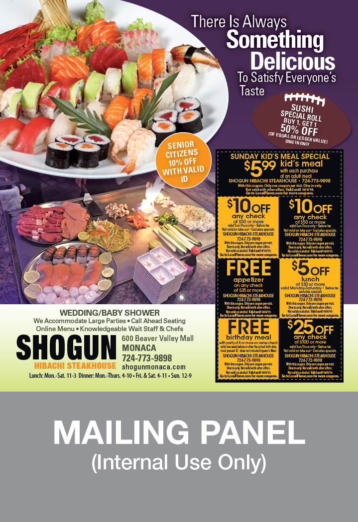 graphic relating to Printable Coupons Shogun titled - Shogun Hibachi Steakhouse Discount coupons