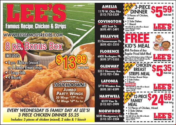 Localflavor Com Lee S Famous Recipe Chicken And Strips Coupons