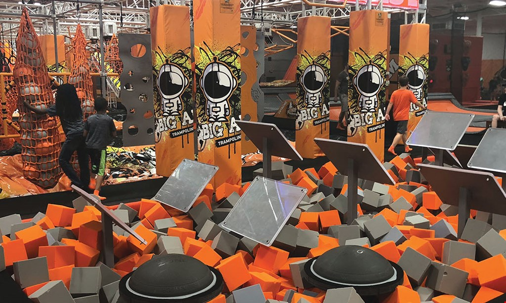 Product image for Big Air Trampoline Park $39 For Two 2-Hour Jump Times, Two 10 Minute VR Times & Two Pairs Of Big Air Grip Socks (Reg. $78)