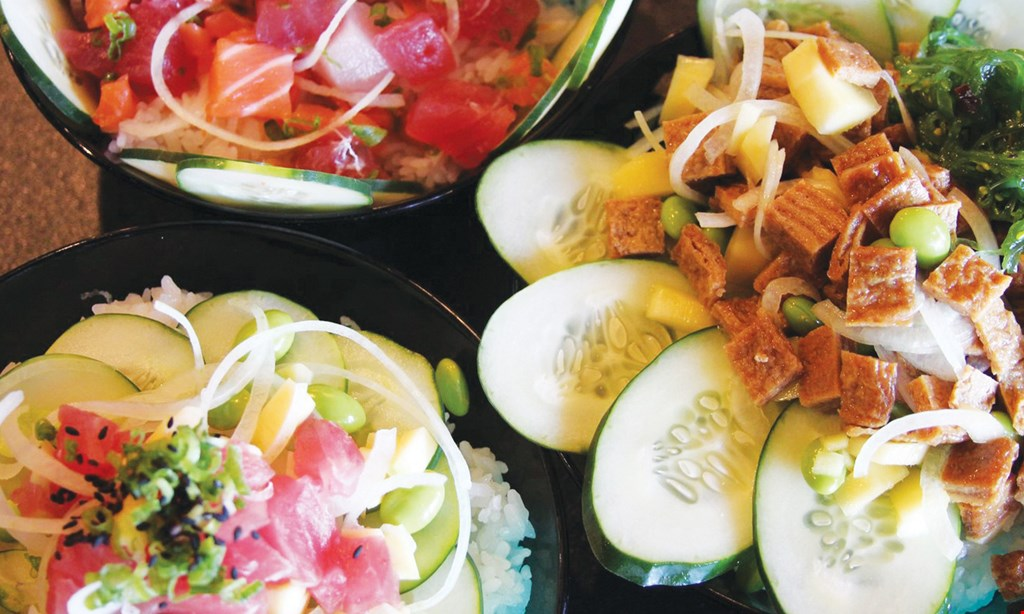 Product image for Tomo Poke Bowl $10 for $20 Worth of Fresh, Healthy, & Mouth-Watering Poke Bowls!