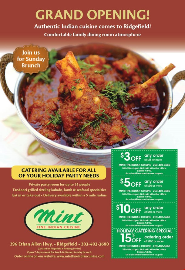 localflavor com mint fine indian cuisine coupons
