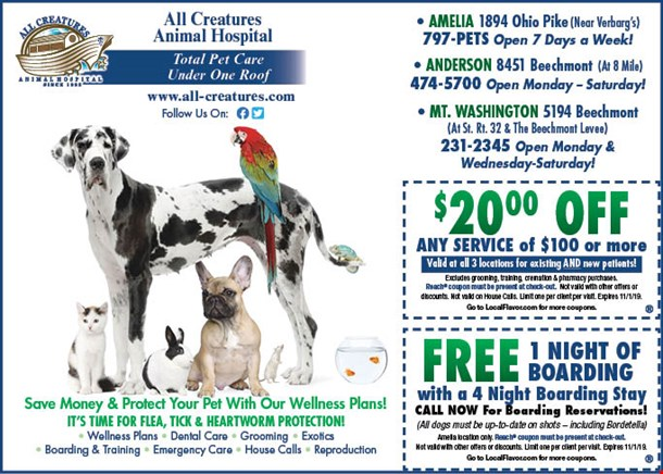 LocalFlavor com - All Creatures Animal Hospital Coupons