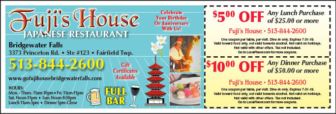 fuji steakhouse conway coupons