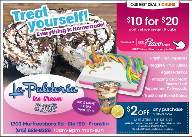 Localflavor Com La Paleteria 10 For 20 Worth Of Ice Cream And