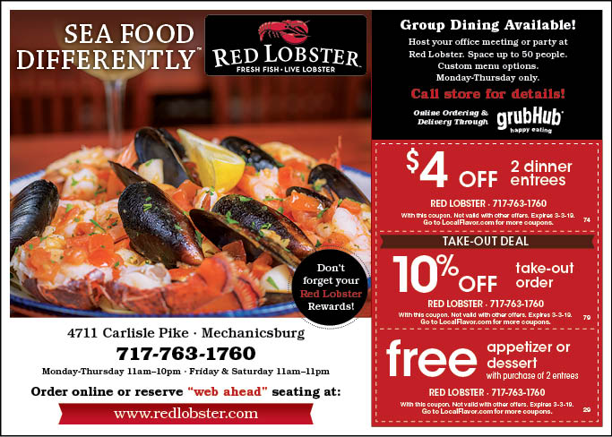 fine lobster coupons