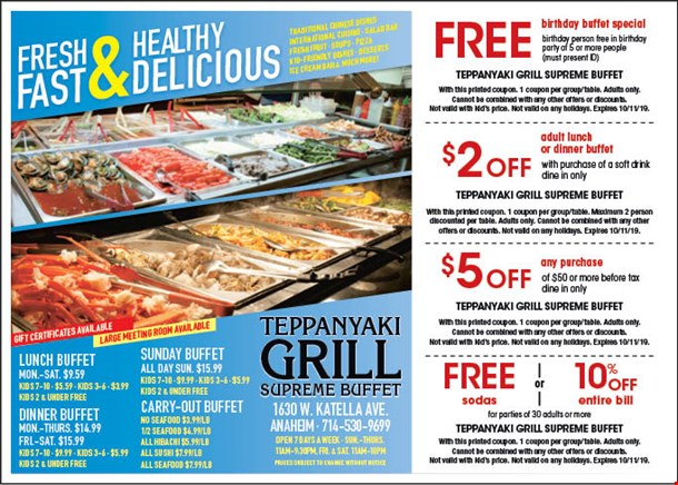 Superb Localflavor Com Teppanyaki Grill Supreme Buffet Coupons Download Free Architecture Designs Itiscsunscenecom