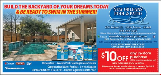 Localflavor Com New Orleans Pool And Patio Coupons