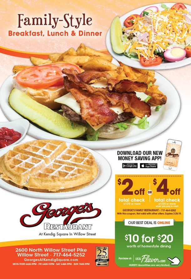 Localflavorcom Georges Restaurant 10 For 20 Worth Of